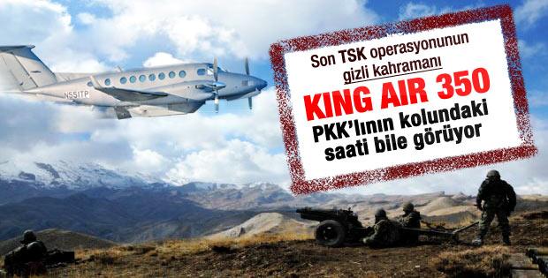 PKK mağaralarını King Air 350 buldu