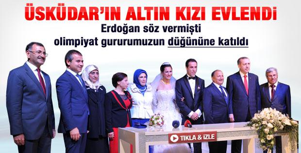 Erdoğan Olimpiyat şampiyonu Alptekin'in düğününe katıldı