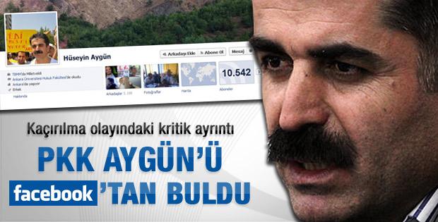 PKK Aygün'ü Facebook'tan takip etti