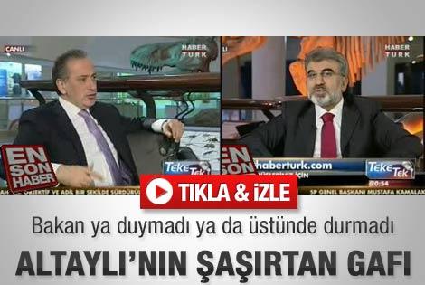 Altaylı'dan ilginç sözler - Video