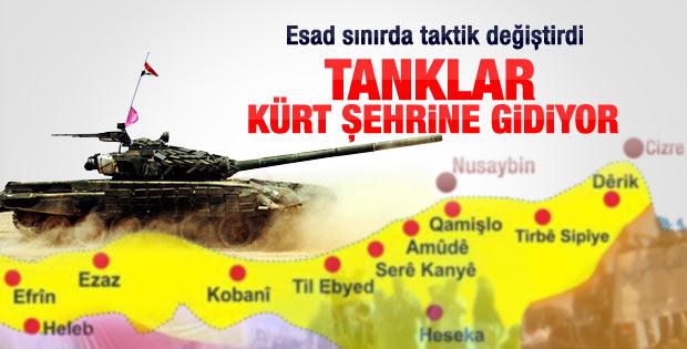 Esad toplarını Kürt kenti Kamışlı'ya çevirdi