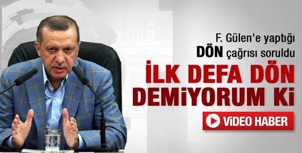 Başbakan Erdoğan Gülen'in yanıtını yorumladı - Video