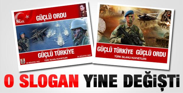 TSK'nın 30 Ağustos sloganı yine değişti