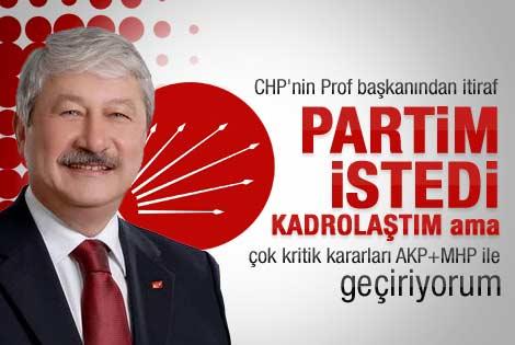 Akaydın: Partim CHP istedi kadrolaştım