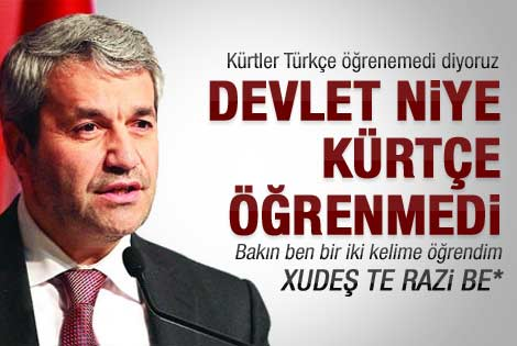 Nihat Ergün'den dikkat çeken Kürtçe çıkışı