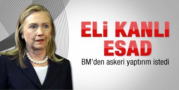 Clinton Suriye'ye askeri yaptırım istedi