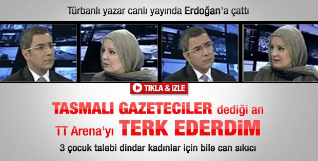 Türbanlı yazar Karaca'dan Erdoğan'a sert eleştiriler