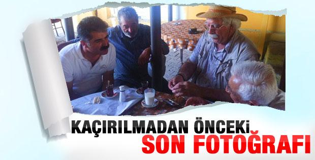 Hüseyin Aygün'ün kaçırılmadan önceki son fotoğrafı