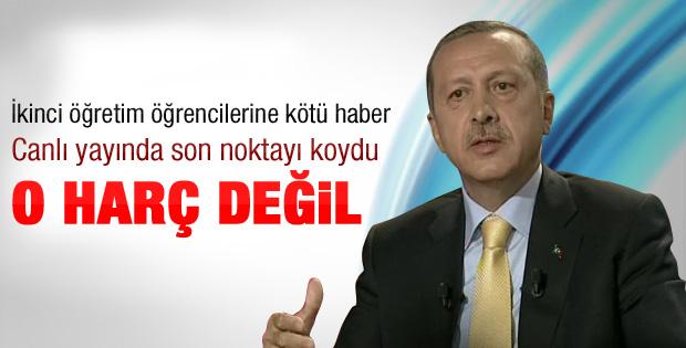 Erdoğan'dan ikinci öğretim öğrencilerine kötü haber