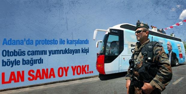 Kılıçdaroğlu'nun aracını yumrukladı lan sana oy yok dedi