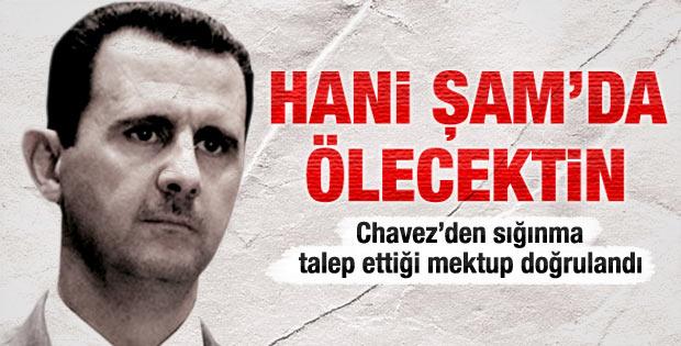 Esad Chavez'den sığınma talep etti