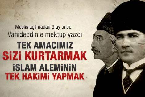 Bardakçı Atatürk'ün Vahideddin'e mektubunu açıkladı