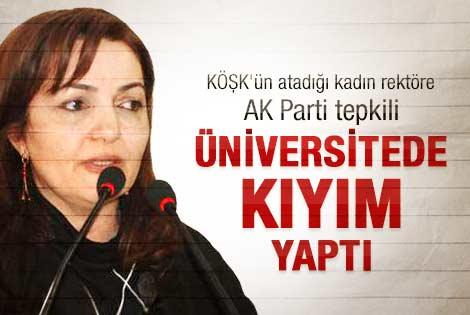 Abdullah Gül'ün atadığı rektöre AK Parti'den tepki