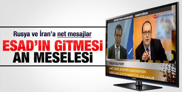 Rasmussen: Şam'daki Esad rejimin çökmesi an meselesi