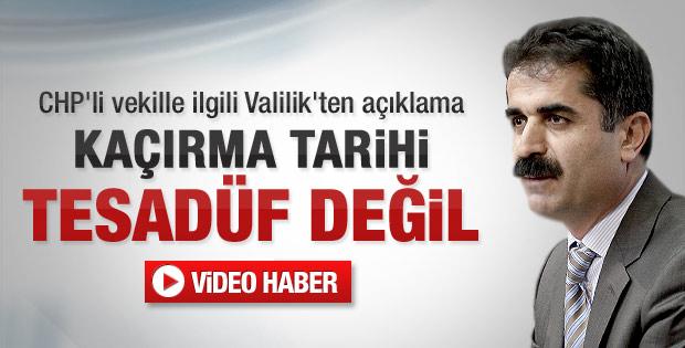 Tunceli Valisi'nden açıklama - video