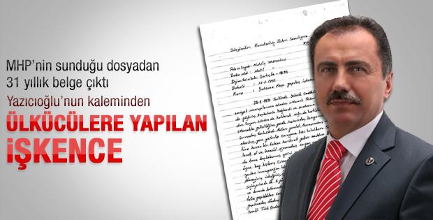 Yazıcıoğlu'nun 31 yıl önce yazdığı dilekçe