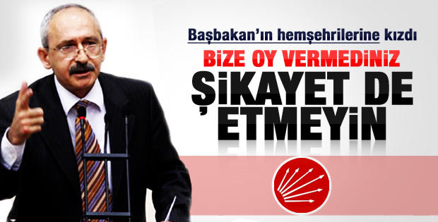 Kemal Kılıçdaroğlu Karadenizliler'e sitem etti