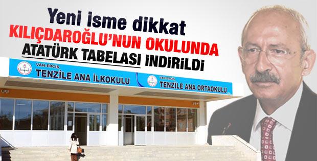 Adı değiştirilen okul Kılıçdaroğlu'nun okuduğu okul çıktı