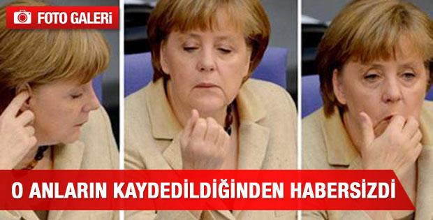 Merkel o anların kaydedildiğinden habersizdi