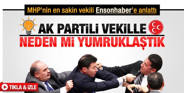 MHP'li Sinan Oğan Meclis'teki yumruklaşmayı anlattı