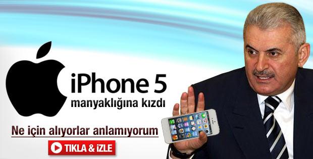 Bakan Binali Yıldırım'ın iPhone 5 isyanı