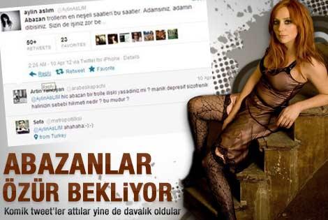 Aylin Aslım'ın twitter kapışması davalık oldu