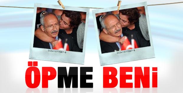 CHP'li kadın Kılıçdaroğlu'nu İzmir'de öptü