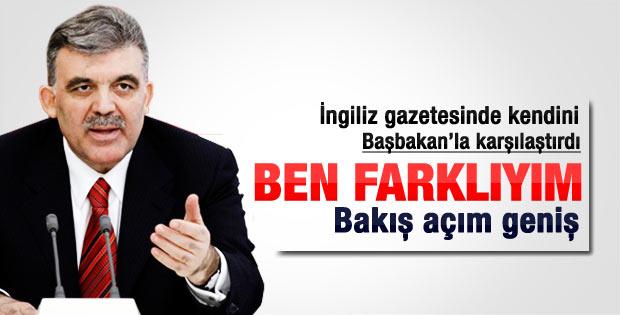 Abdullah Gül: Erdoğan'ın söylemi benden farklı