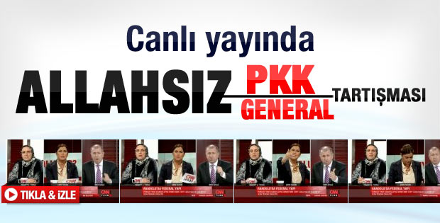 Canlı yayında Allahsız PKK Allahsız General polemiği