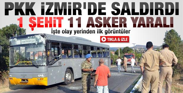Foça'daki saldırı sonrası olay yerinden ilk görüntüler