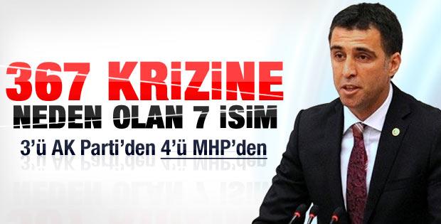 AK Parti ve MHP'den fire veren vekiller