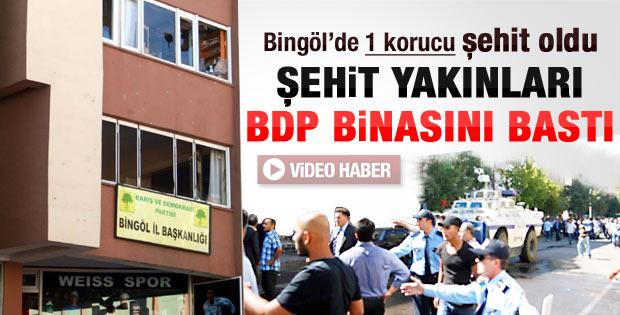 Bingöl'de BDP binasına saldırı