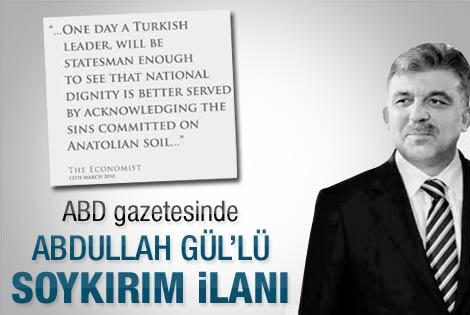 Abdullah Gül'lü soykırım ilanı