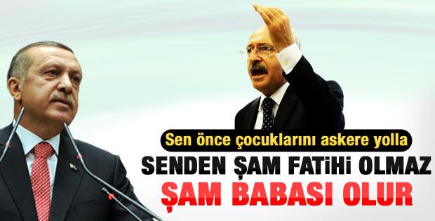 Kılıçdaroğlu'ndan Erdoğan'a: Şam Fatihi değil Şam babası