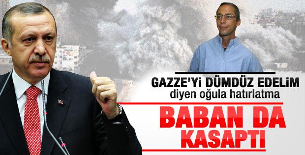 Erdoğan'dan Şaron'un oğluna sert yanıt