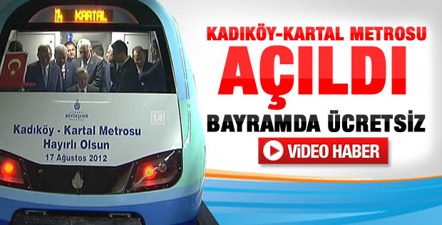 Erdoğan Kadıköy - Kartal metrosu açılış töreninde