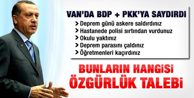 Başbakan Erdoğan'ın Van'daki konuşması