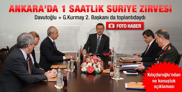 Erdoğan ve Kılıçdaroğlu'nun Suriye zirvesi sona erdi