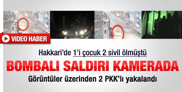 Hakkari'deki bombalı saldırı kamerada - Video