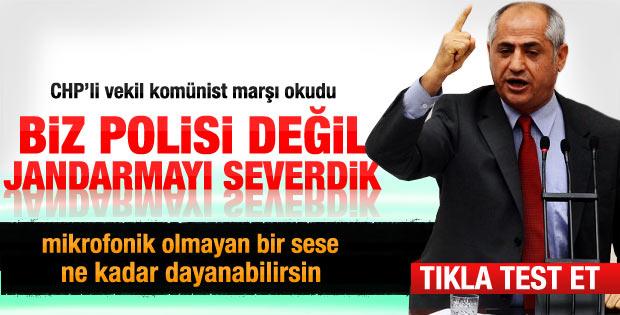CHP'li vekil Meclis kürsüsünde marş söyledi