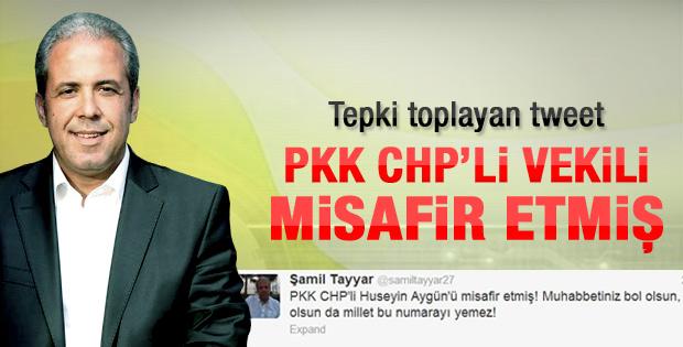 Şamil Tayyar'a Twitter'dan tepki