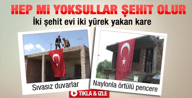 Kayseri'deki şehit evinin pencereleri isyan ettirdi