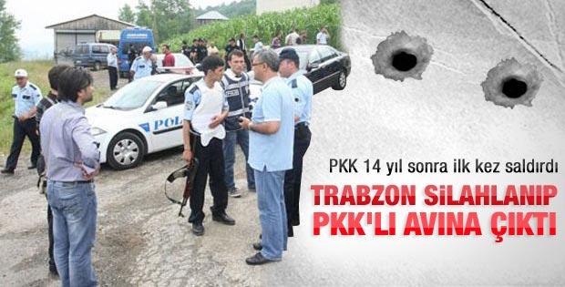 PKK 14 yıl sonra Trabzon'a saldırdı