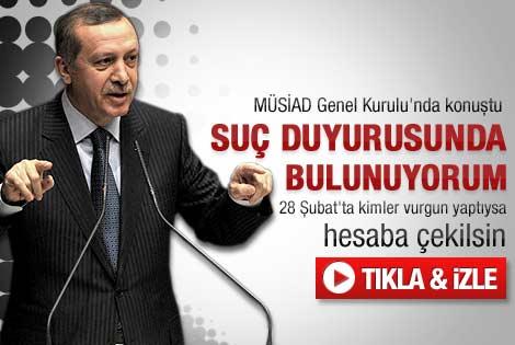 Erdoğan'ın MÜSİAD Genel Kurul konuşması