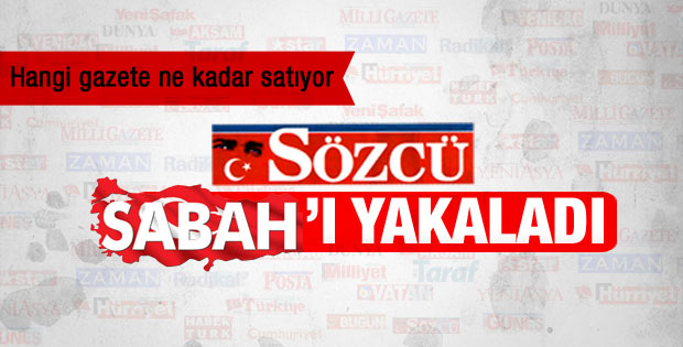 Son gazete satış rakamları: Sözcü Sabah'ı yakaladı