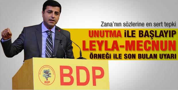 Demirtaş'tan Leyla Zana'ya sert gönderme