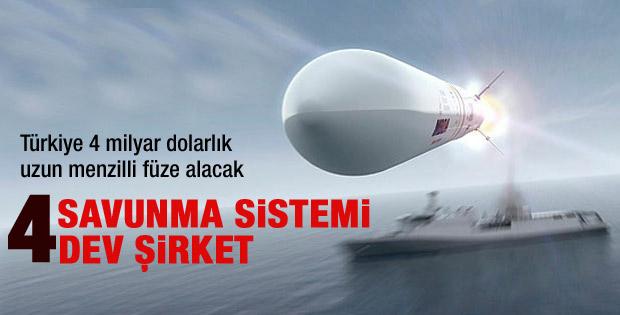 Türkiye 4 milyar dolarlık füze alıyor