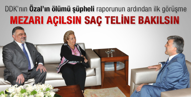 Semra Özal'dan Abdullah Gül'e rapor için teşekkür