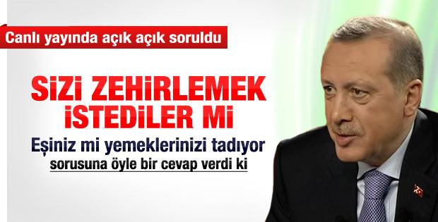 Erdoğan'a canlı yayında zehirlenme sorusu