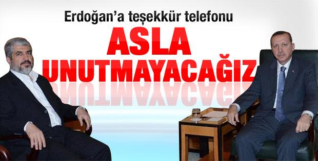Meşal'dan Erdoğan'a teşekkür